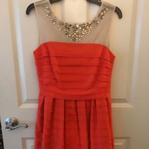 SHEIN Coral Red Cocktail Dress